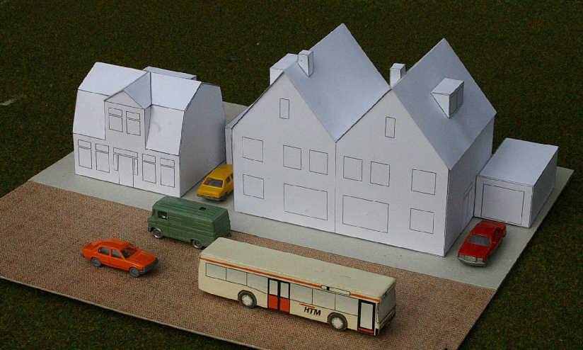 Bouwplaten van rijtjes huizen - Ingang van een huis ...